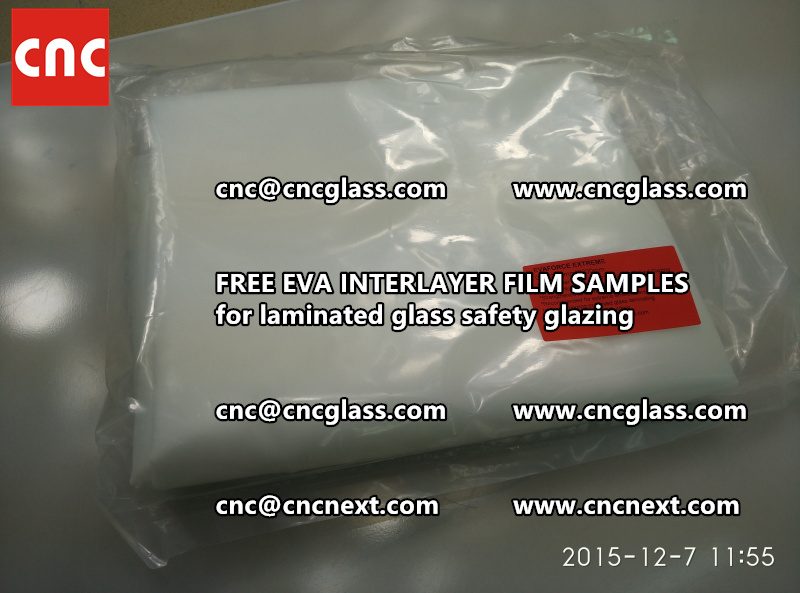 CROSS LINKED EVA INTERLAYER samples for safety glass laminated (2)