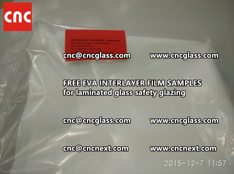CROSS LINKED EVA INTERLAYER samples for safety glass laminated (25)