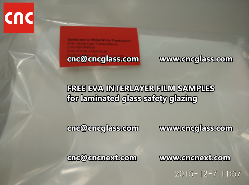 CROSS LINKED EVA INTERLAYER samples for safety glass laminated (29)