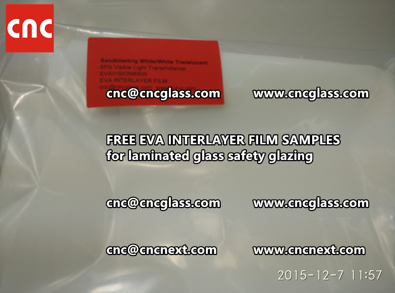 CROSS LINKED EVA INTERLAYER samples for safety glass laminated (31)
