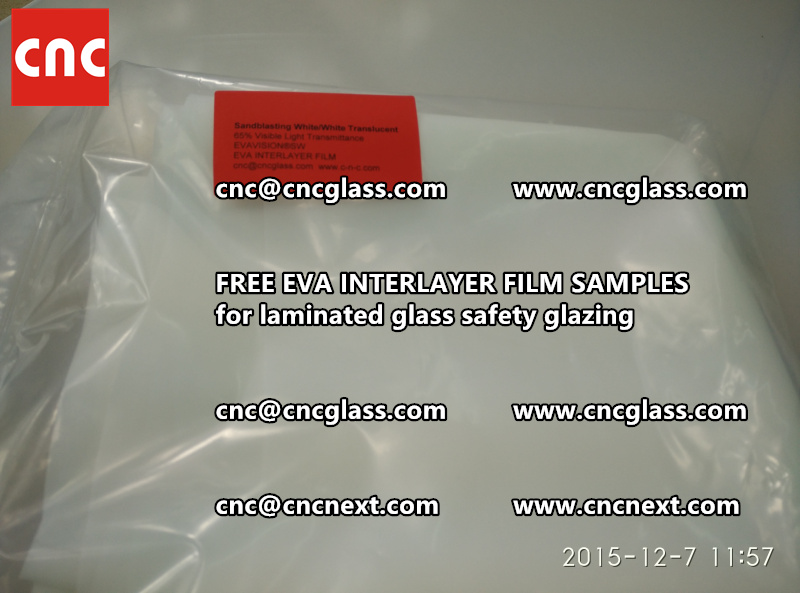 CROSS LINKED EVA INTERLAYER samples for safety glass laminated (34)