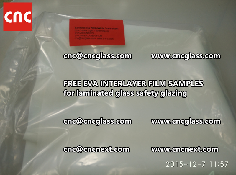 CROSS LINKED EVA INTERLAYER samples for safety glass laminated (36)