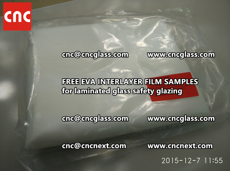 CROSS LINKED EVA INTERLAYER samples for safety glass laminated (6)