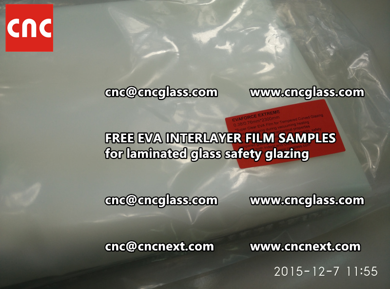 CROSS LINKED EVA INTERLAYER samples for safety glass laminated (8)