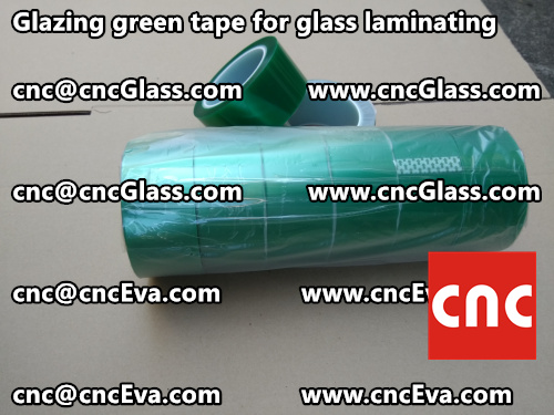 Green tape for safety glass laminating glazing (1)