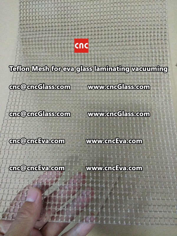 mesh for helping vacuuming of glass laminating (4)