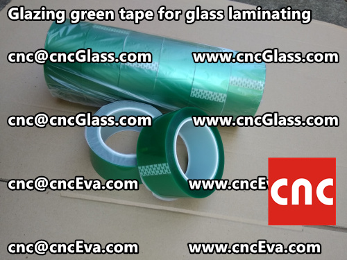 vacuum green tape for glazing (3)
