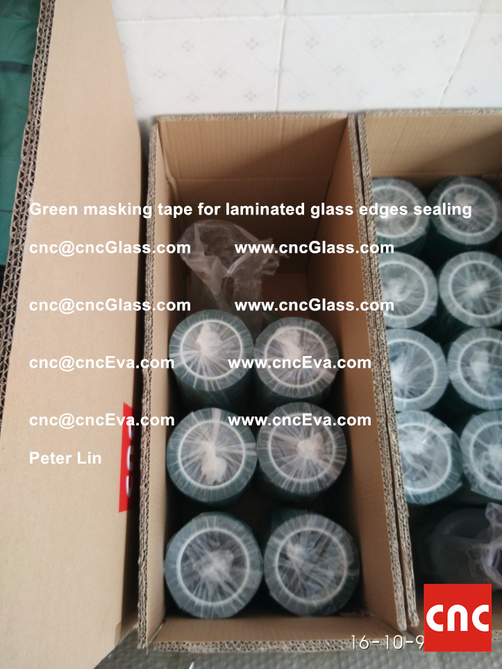 green-masking-tape-for-laminated-glass-edges-sealing-8