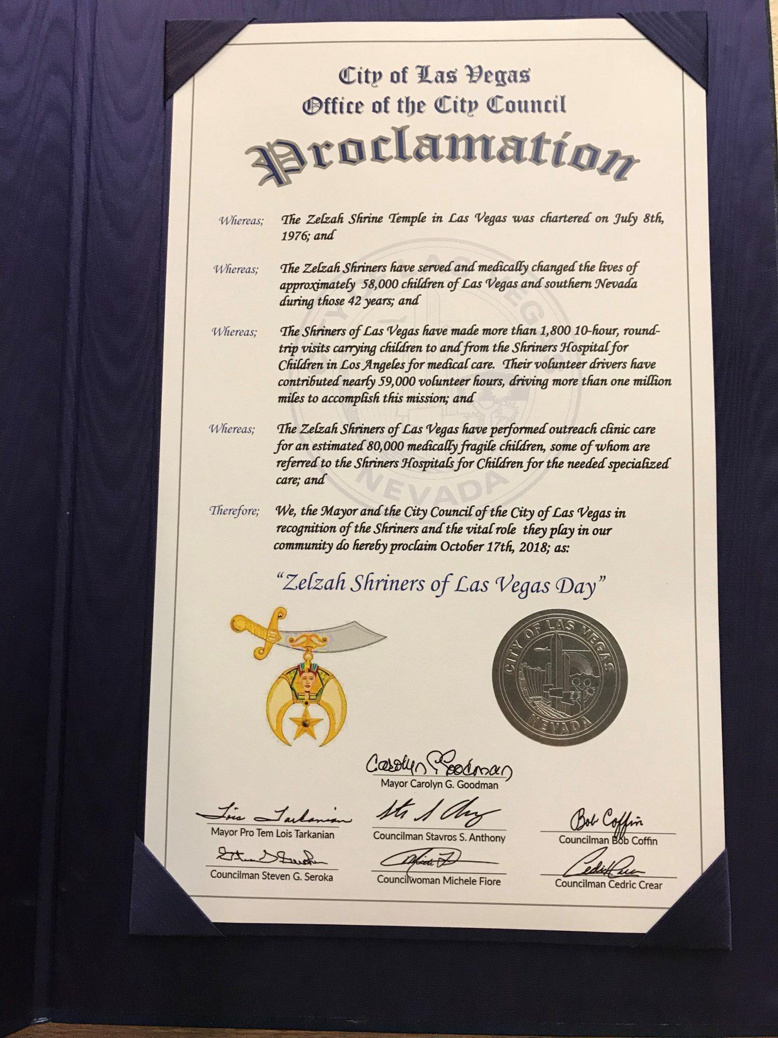 Proclamation LV