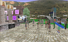Screenshot from the Virtual Wedding Project (1999-2000)