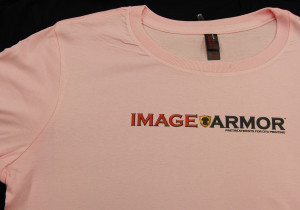 Image Armor Dark Shirt Formula on Pink T-Shirt