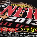 DTG White ink on Black Polyester