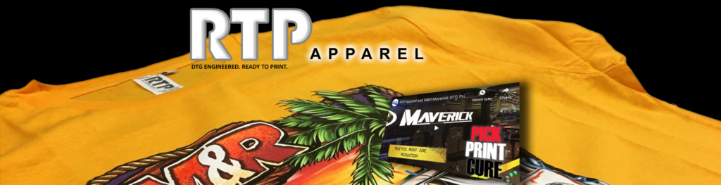 RTP Apparel Utilizing Image Armor Technology with the New M&R Maverick DTG Printer is a Production Machine
