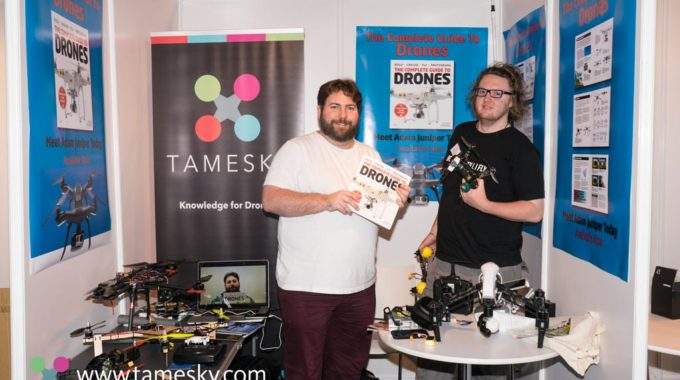 Adam Juniper And Jack Nash At The UK Drone Show NEC