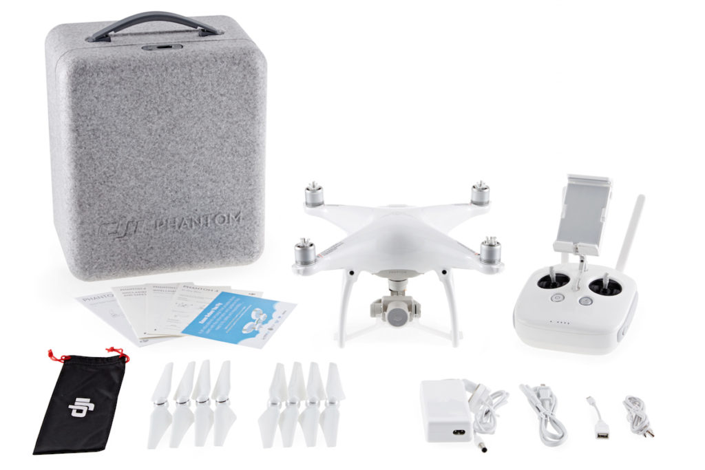 With the Phantom 4 you'll get everything you need, including a shipping container that can be repurposed as a carry case.