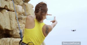 DJI Spark taking a photo automatically hand gesture