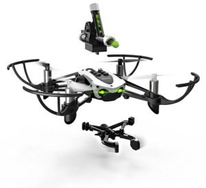 Parrot Mambo drone with detachable canon or grabber gives a lot of options.