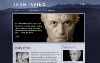 John Irving web design (previous)