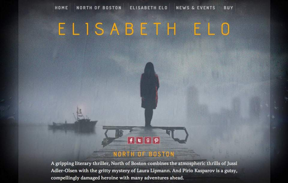 Author website design for Elisabeth Elo