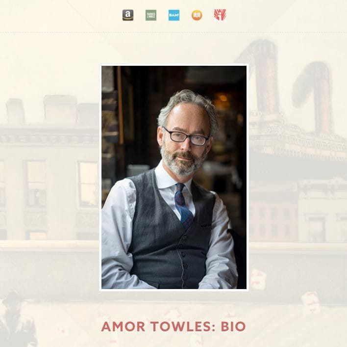 Web design for Amor Towles