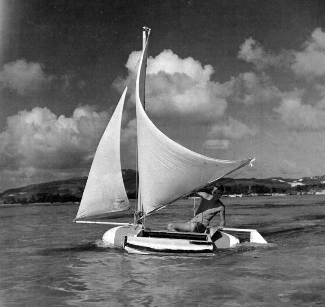 Belly Boat in navigazione