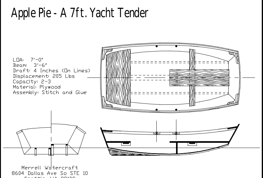 Small Tender Boat plan