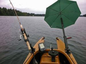 Ombrello per kayak e pesca in kayak
