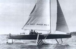 Sail Boat Hydrofoil 1950
