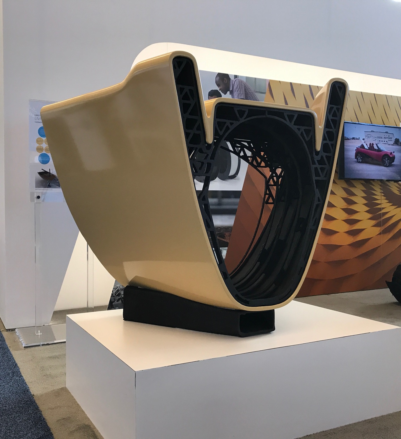 first 3D printed sail boat with carbon fiber reinforced thermoplastics
