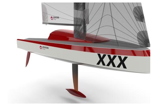 3d printed carbon sailboat