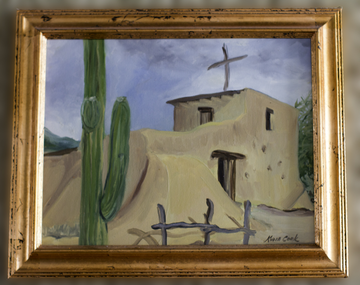 DeGrazia's Chapel Original Painting 11×14