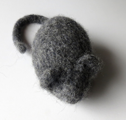 knitted harry mouse pet toy