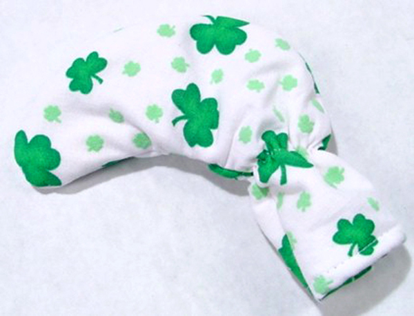 Shamrocks on White Golf Club Putter Cover