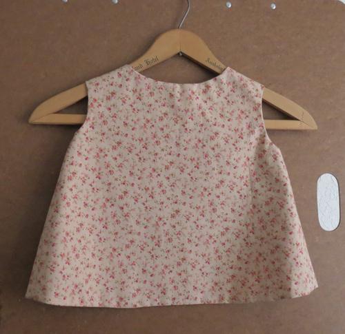 Toddler Size 1 Tea Rose Pinafore