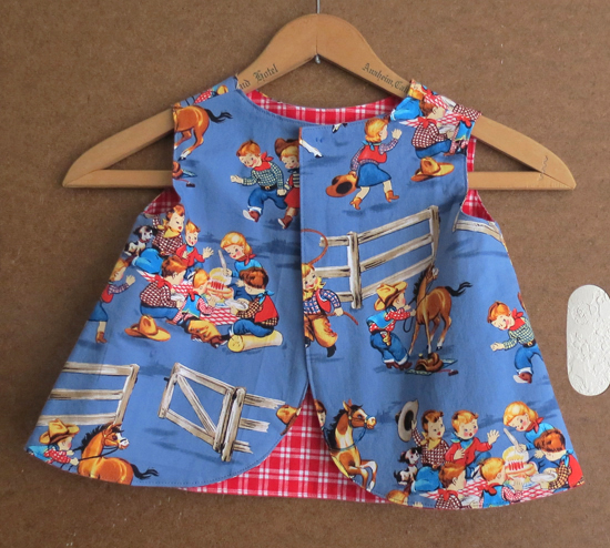 Toddler Western Rodeo Pinafore Size 1