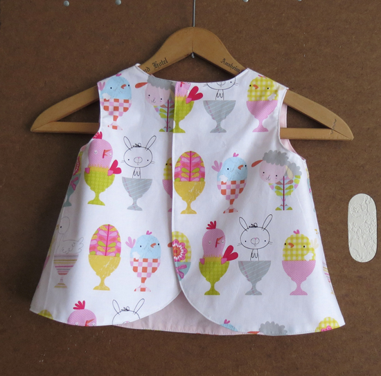 Toddler Size 1 Baby Chick Pinafore