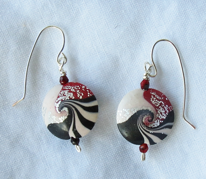 Peppermint Vertigo Earrings