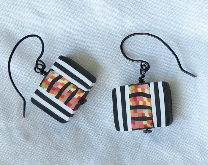 Op Art Sushi Earrings