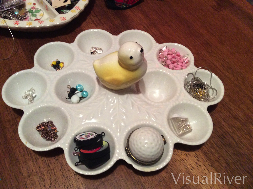 Rescued Baby Chick Stuffed Egg Dish