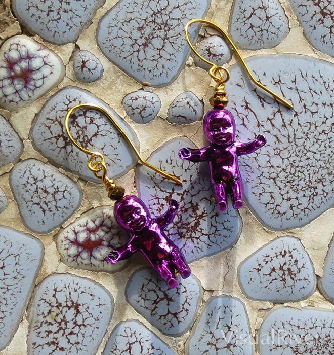 Purple King Baby Earrings
