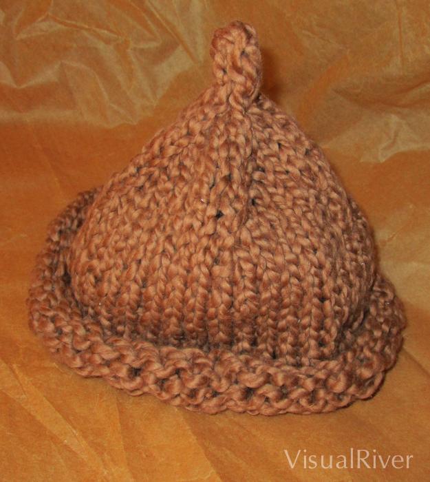 Child's Brown Beanie Organic Cotton Hat