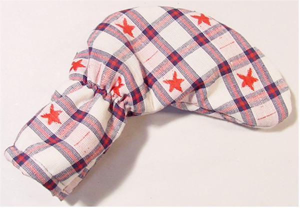 Patriotic Plaid with Stars Putter Cover