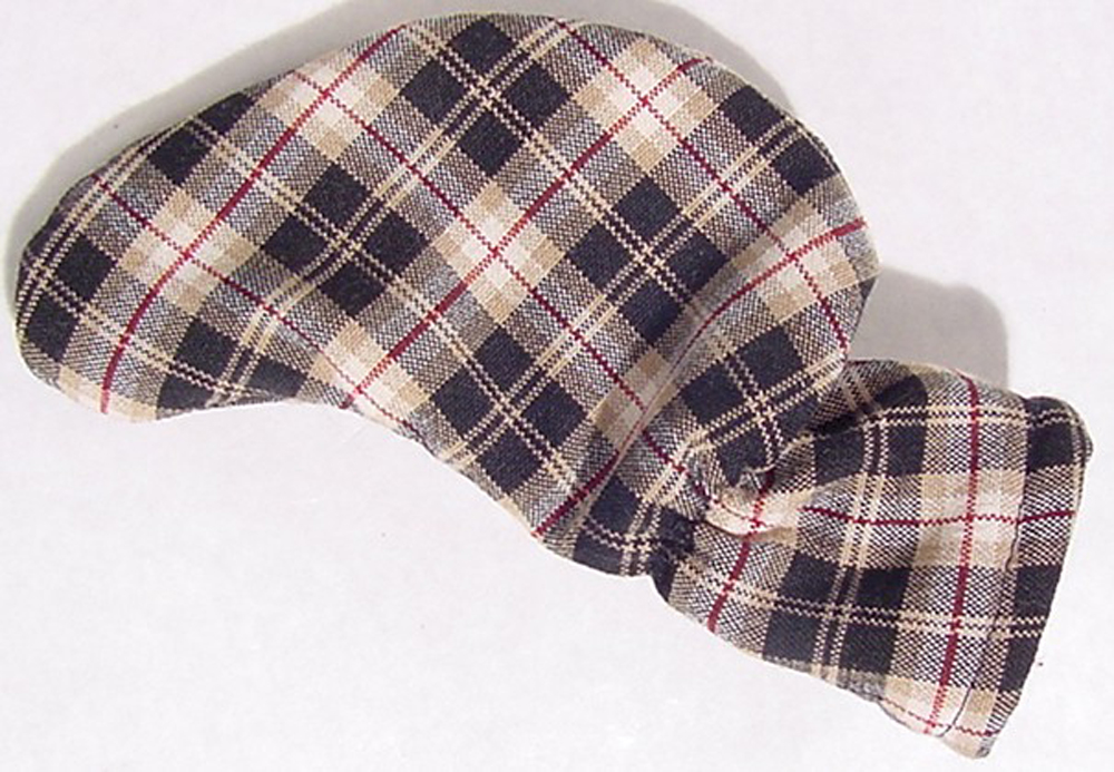 Black and Tan Tartan Plaid Putter Cover