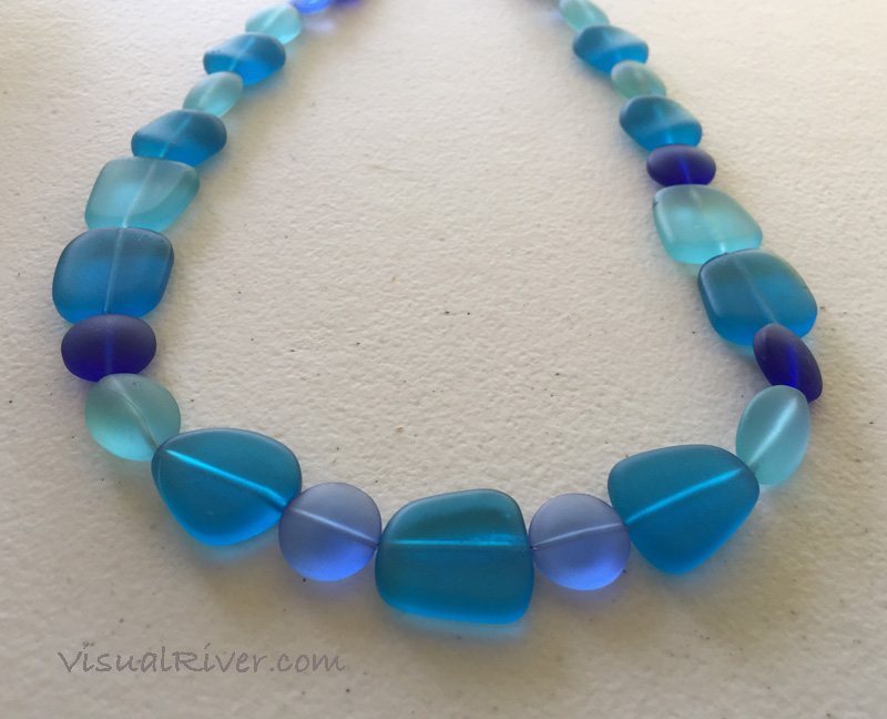 Aqua Pebble Seaglass Necklace