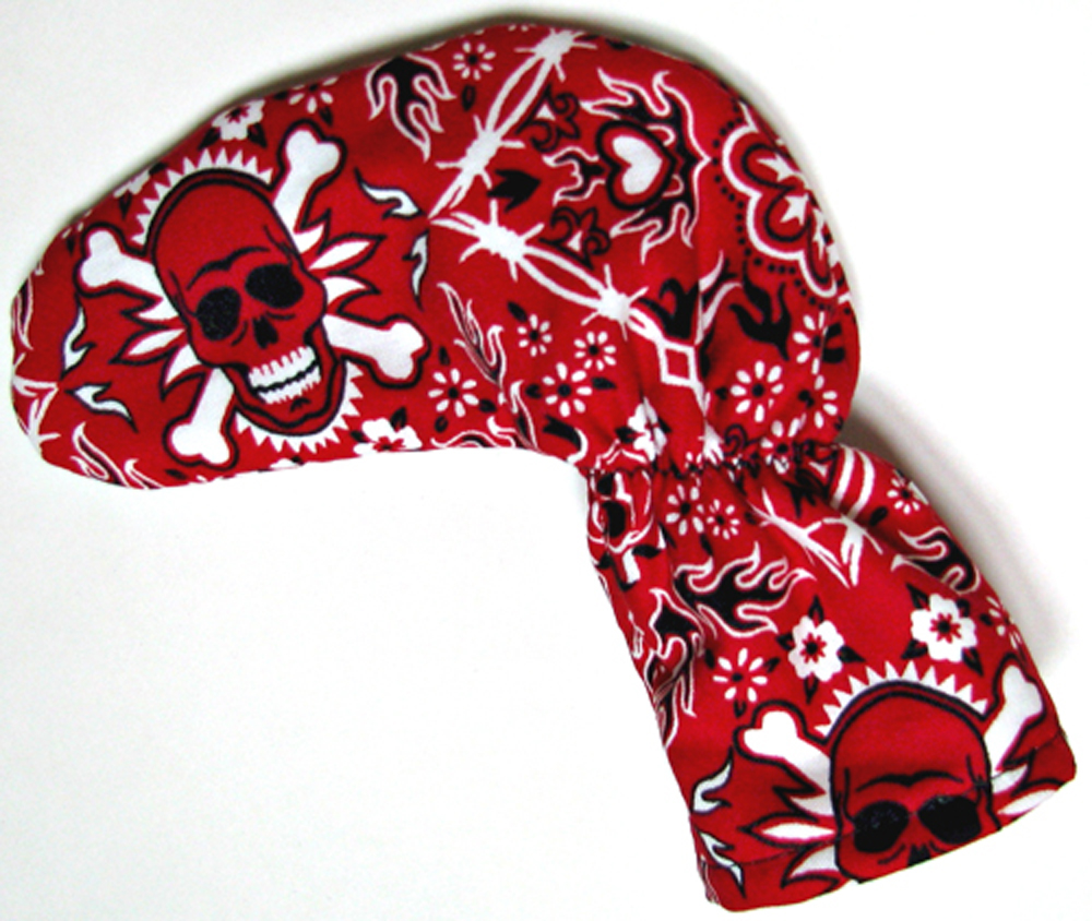 Red Skulls Golf Club Putter Cover