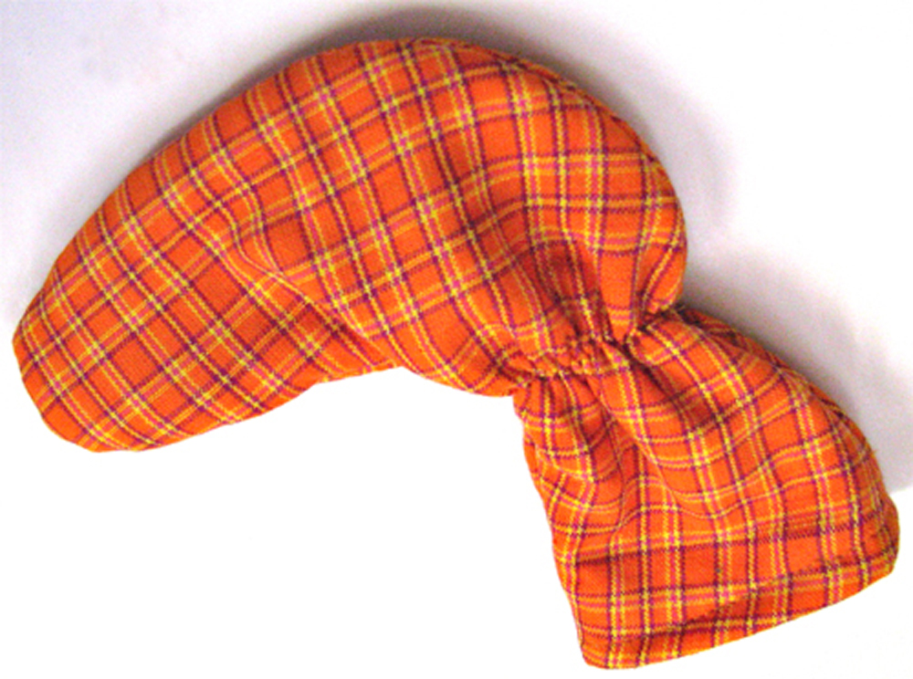 Orange Tartan Plaid Putter Cover