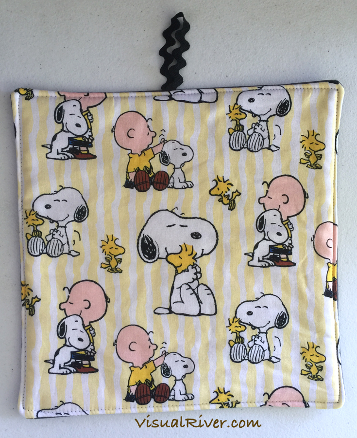 2 Charlie Brown and Snoopy Potholders ~ 100% Cotton