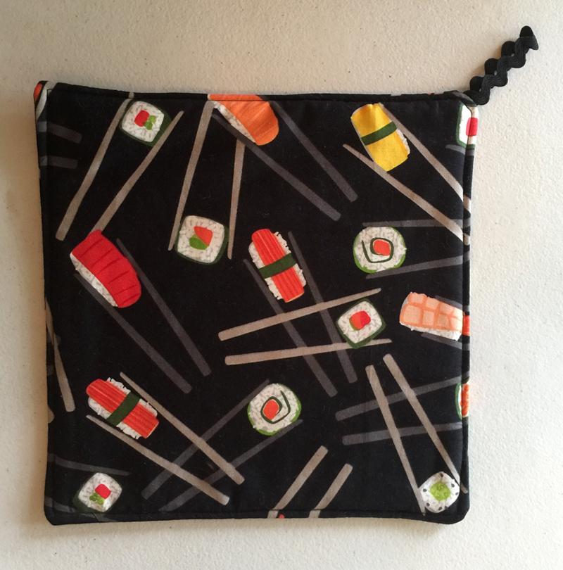 2 Sushi Print Potholders ~ 100% Cotton