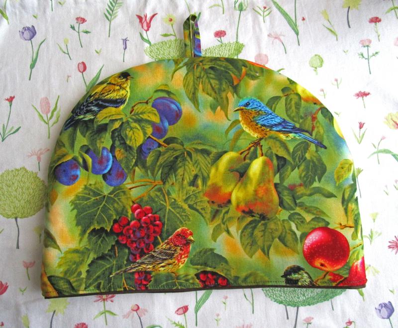 Birds and Fruit Botanical Print Tea Cozy