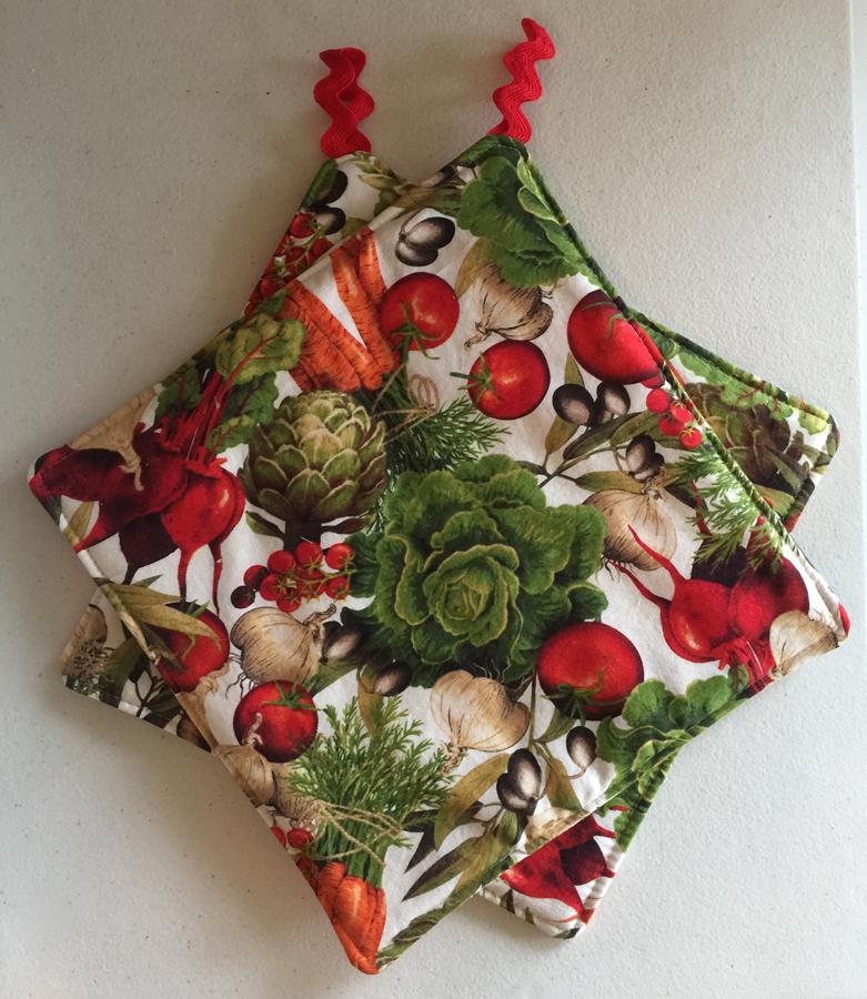 Vegetable Botanical Print Potholders